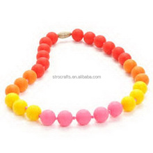 Excellent quality top sell natural silicone rubber beads necklaces