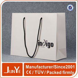 high quality grey design large shopping paper bag