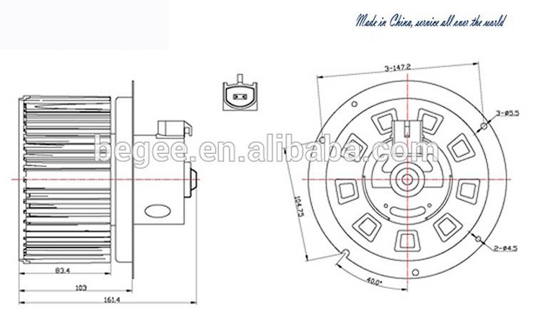 trade assured 24 volt fan blower motor oe  2c3z 19834 aa xc3z 19805 ca