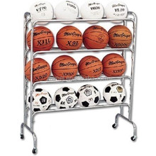 4 tiers rotating basketball stress ball with stand