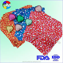 aluminum foil with colored printing for food wrap
