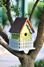 ECO-FRIENDLY WOODEN BIRD HOUSE PET HOUSE BIRD CAGE FEEDER ALS-6122