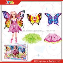 las niñas A393461 juguete de la muñeca de hadas de la mariposa de plástico las niñas juguetes muñeca