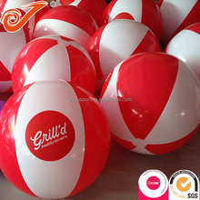 Standard size beach ball with logo printing,wholesale PVC custom inflatable beach ball