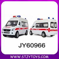 1:32 diecast models alloy white ambulance car W/LIGHT & SOUND