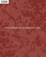Hot fashion natural leaves wallpaper for home decor (7colors)