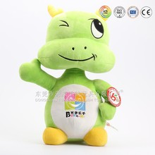 Customized plush green dragon toy for promotion