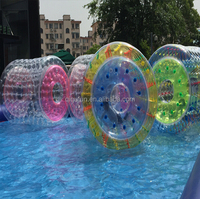 High quality 1.0mmPVC/TPU water filled roller, human hamster ball costco