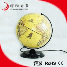 Metal Base Plastic Lampshade Bedroom Globe Table Lamp Max 25W Touch Avaliable