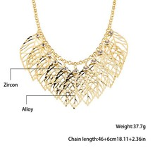 2015 fashion trends in Europe and America alloy necklace sweater chain