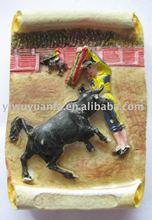 Spain Bullfight Design Polyresin Fridge Magnet