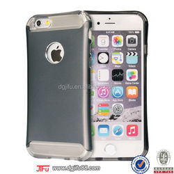 for iphone 6 2 piece case , TPU air pocket case with aluminum for iphone 6