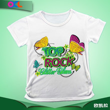 Made in china bottom price girls short sleeve t shirt