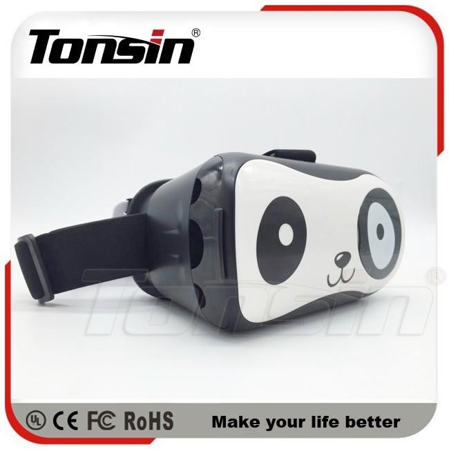 Tonsin Óculos De Realidade Virtual 3D VR Capacete Caixa De Papelão para o iphone 6 6 S Plus & Android 5.5 6 Smartphonee