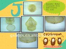Gold wire decorative mushroom house handicrafts