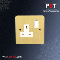 Electrical 13a Metal Wall Switch Socket BS Switch And Socket