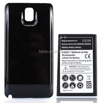 Extended 6800mAh Battery + Black Cover For Samsung Galaxy Note 3 III N9000 N9005