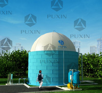 China PUXIN 100 cubic metre soft dome biogas/digester/ plant for cattle manure/ dung treatment