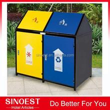 Garden / park Iron power paint outdoor trash cans, recycling bin