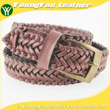 2015 classic pu braided belt dress for women with PU leather in yiwu