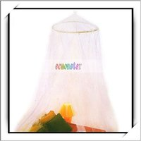 Wholesale! White Elegant Design Mosquito Nets For Canopy Beds -J6047