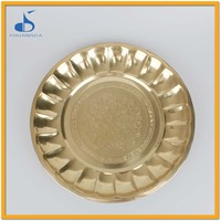 golden tin tray decorative trays for indian wedding