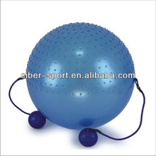 Dual texture pilates gym fitness yoga exercise ball with handle