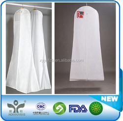 Eco breathable pp non woven suit dress covers/nonwoven garment bag/nonwoven garment cover