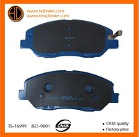 car parts semi-metallic brake pads for Hyundai
