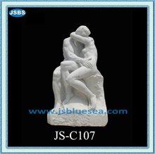 diseño de mármol blanco antiguo amor pareja desnuda estatua
