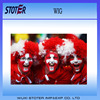 2016 Euro Cup Switzerland flag Carnival afro wigs