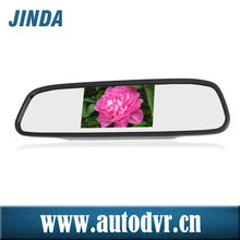 High quality 480x320 HD 4.3 inch car rearview mirror /two road AV input LCD display can be connected with any cameras
