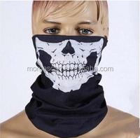2015 New Skull Half Face Bandana Skeleton Ski Motorcycle Biker Paintball Mask Scarf