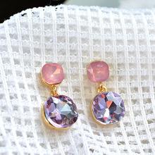 Brand Design New hot Fashion Popular Luxury Crystal Stud Earrings Elegant earrings jewelry for women 2015