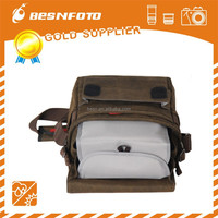 Besnfoto New Brown high quality waterproof Canvas new design camera case for dslr