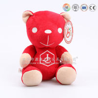 Wholesale young chubby bear & red plush teddy