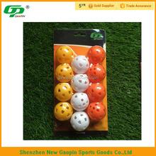 Air flow plastic golf hole ball