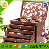high grade vintage wood box large cosmetics case