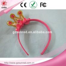 OEM ordered plastic headband to decorate