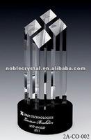 Special Black Base Cultural Cube Crystal Trophy