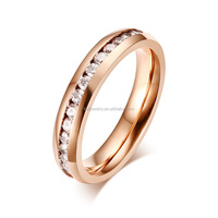 316l Surgical Stainless Steel New Model Wedding Rose Gold Ring Wholesale