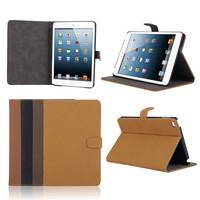 Most Popular Vintage Style PU Leather Flip Case for iPad Mini 4, For iPad Mini 4 Flip Case