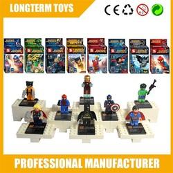 Super hero mini block figure building blocks plastic kids toys