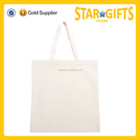 Promotional top quality small white canvas tote bag