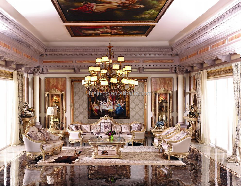 Luxury french baroque style living room furniture sofa set european royal palace hand carved - Add luxurious look home royal sofa living room ...