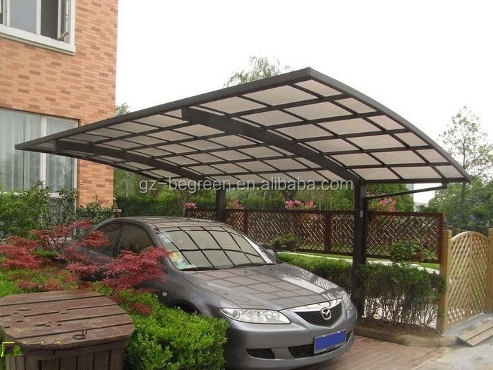 Acrylic Car Shelters : Polycarbonate outdoor car parking shelters plastic roof