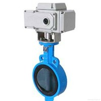 DN150 stainless steel304 electric motor butterfly valve with limit switch 220v 230v
