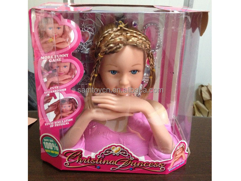 Popular Makeup Doll Head For Kids,Hair Styling Head Doll