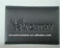 fake leather deer logo badge for wallet