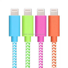 MFi passed Aluminum Nylon Braided Cable with 8 pin charging cable for iphone6 5 5s 6 plus/ipad air/ipod